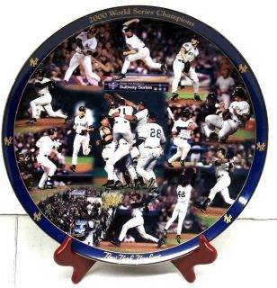 Mint New York Yankees 2000 World Series Champions Collector Plate