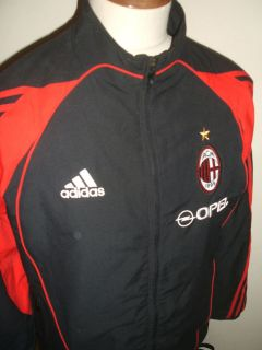 ADIDAS AC MILAN FOOTBALL TRACKSUIT TOP SIZE MEDIUM BLACK