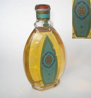 1920s ANTIQUE ART DECO AFTER SHAVE EAU DE COLOGNE TOSCA