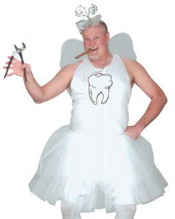 Funny Adult Mens Tooth Fairy Tutu Halloween Costume