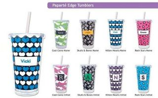 Personalized Plastic Tumblers Skull Hearts Camo Plastic Cups Tumblers