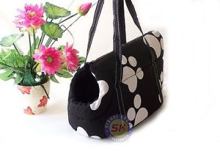 Beauty Black Paw  Dog Cat Pet Travel Carrier Tote Bag /13 Purse