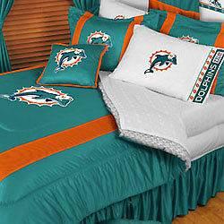 nEw NFL MIAMI DOLPHINS Full Queen Bedding COMFORTER SET
