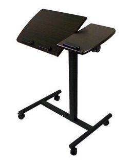 New Portable Notebook Laptop Rolling Table Cart Desk TV Stand Tiltable
