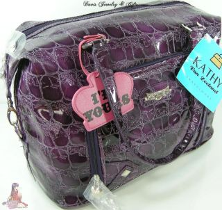 Zeeland Carry On Luggage XL Tote Purse Laptop Computer Bag Purple NWT