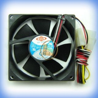 Top Motor DF128025BB 80mm DC 12V Brushless Fan 3&4 pin