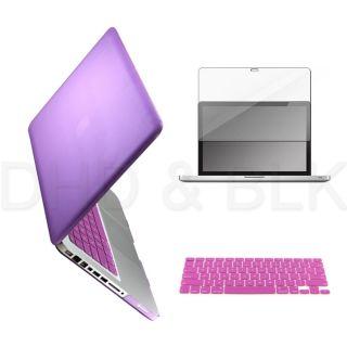 Purple Hard Case for Macbook Pro 15 + Keyboard Cover + Screen Guard