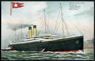 ADRIATIC (1907) White Star Line. J.W.B. Ship & House Flag series