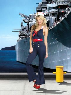 Bon Voyage Halloween Sailor Marine Girl Navy Costume 4 Pcs Set Gift