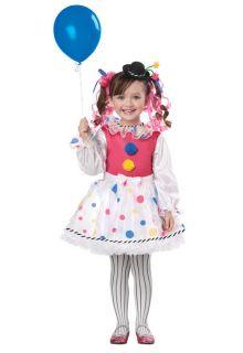 Clown Cute Circus Girls Toddler Childrens Halloween Costume Brand New