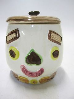 VERY RARE Vintage Napco Cookie Jar from Japan Happy Smile Face