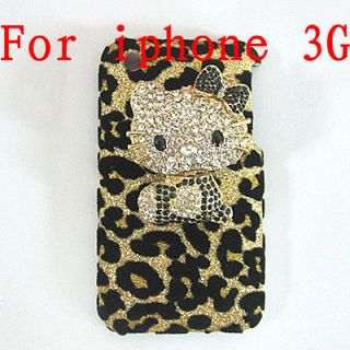 Bling Shiny Hello kitty Hard Case Cover for iPhone 3G 3GS T8 NEW