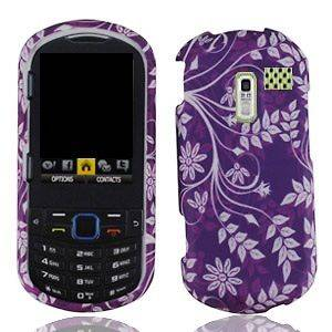 Purple Leaf Faceplate Hard Shell Cover Phone Case for Samsung R455C