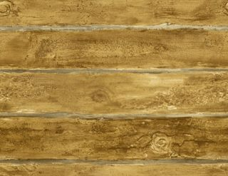 CARAMEL BROWN LOG CABIN 27 WIDE WALLPAPER SF51603