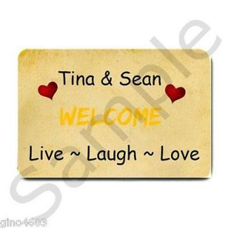 Front Door Mat Live Laugh Love Add Name Custom Personalized Doormat