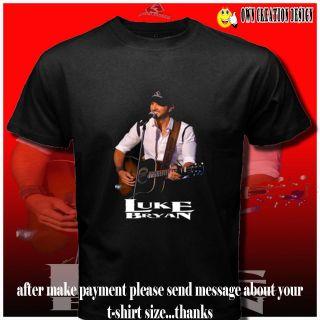 Of The Loom LUKE BRYAN Country Music Man singer CD T SHIRT S#S XXL