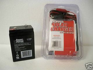 HOUR RECHARGEABLE SLA 4.5AH SEALED BATTERY & 6V SOLAR PANEL CHARGER