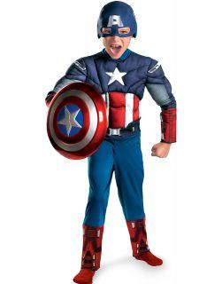 Marvel Captain America Avengers Classic Muscle Child Halloween Costume