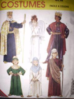 UNCUT McCalls Pattern Childrens Bible Costumes King FF