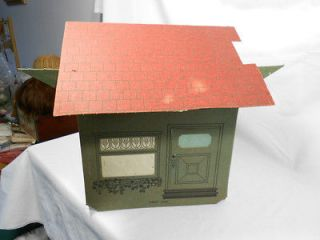 Toyville Bungalow for Little folks 1913 Cardboard Doll House Toy USA