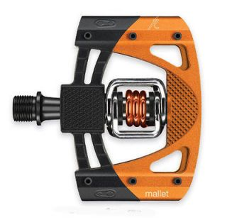 Crank Brothers Mallet 2 Clipless MTB Pedals   Black / Orange