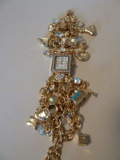 KIRKS FOLLY MILLION DOLLAR BABY GOLD WATCH NWOT