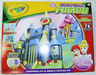 CRAYOLA MODEL MAGIC FUSION Disney Princess Castles CINDERELLA ARIEL