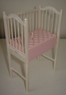MATTEL DOLLHOUSE CRIB BED FOR BARBIES BABY KRISSY DOLL