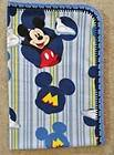 CRIB BLANKET AND/OR PILLOW COVER   MICKEY MOUSE AND MOUSE HATS ON