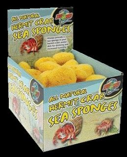 ALL NATURAL HERMIT CRAB CAGE OCEAN SEA SPONGES SPONGE