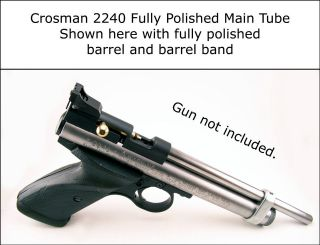 Crosman 2240 2250 2260 CO2 Gas Main Tube   Blued Or Fully Polished