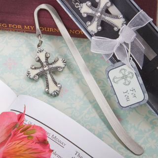 Cross Themed Bookmark Favors Christening Gifts Baptism Religious
