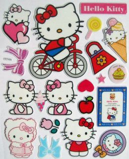Cheap Hello Kitty Sticker 3D Kids Cartoon Stickers Children Room