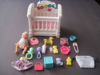 mattel barbie baby Krissy doll crib & accessories