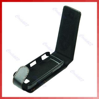 Leather Case Cover Flip Pouch For Nokia 5800 Black New