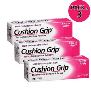 CUSHION GRIP DENTURE ADHESIVE 3 PACK Great Deal