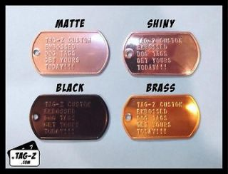 Military Dog Tag Custom Embossed  GI ID Tags   Personalized Tag