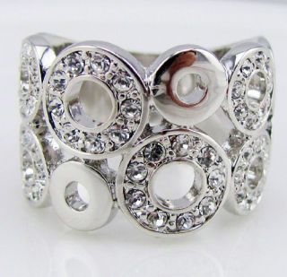 white gold GP swarovski crystal ring promise engagement princess R2