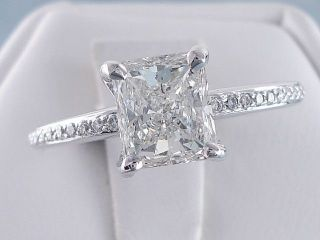 radiant cut diamond ring in Diamond