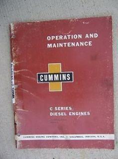 1960 Cummins Diesel Engine C Series Operation Maintenance Manual 4 6