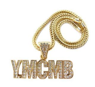 YMCMB YOUNG MONEY CASH MONEY NICKI MINAJ PENDANT W/ 18FRANCO CHAIN