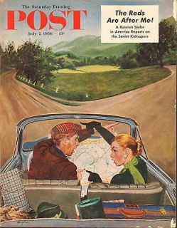 JULY 7 1956 SATURDAY EVENING POST magazine DRIVING TRIP   LOSE