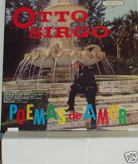 CUBAN MUSIC:OTTO SIRGO POEMAS DE AMOR LP RECORD NM/VG+