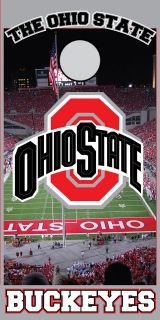Ohio State Cornhole Game 24x48 Full Color Printed Vinyl Decals
