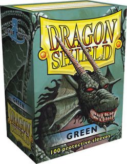 DRAGON SHIELD GREEN 100 DECK PROTECTIVE CARD SLEEVES MAGIC THE