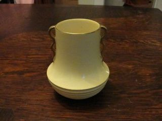 Vintage Carlton Ware Yellow Art Deco Vase