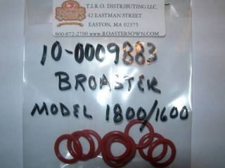 FITS BROASTER PRESSURE FRYER, 10 FILTER O RINGS MODEL 1600/1800/2400