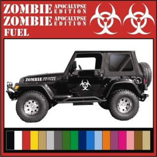ZOMBIE APOCALYPSE EDITION Decal Kit / Stickers Jeep Wrangler Rubicon