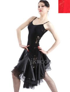 dance dress modern dance salsa competition lace ruffle dance costume