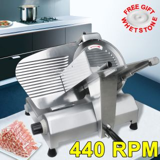 Steel Blade Electric Meat Slicer Deli Food Cheese Veggies Cutter